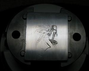Bulino engraved angel