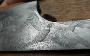 Fracassi engraving close up