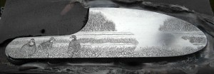 Perdretti work in progress engraving