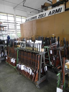 Guns at Zoli factory