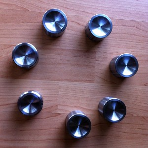 Stainless amplifier knobs