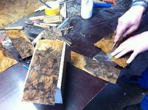 Cutting veneer for uFonken