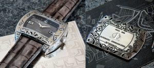 engraved Baume and Mercier watch
